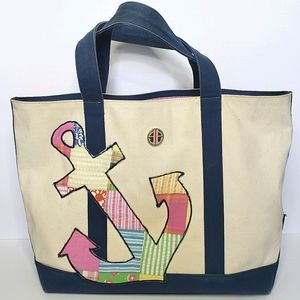 Lilly Pulitzer Anchors Away Patch Canvas Tote Bag
